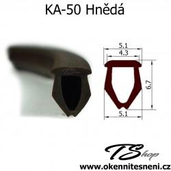 Vyplnění montážní drážky na kování KA-50 Hnědá