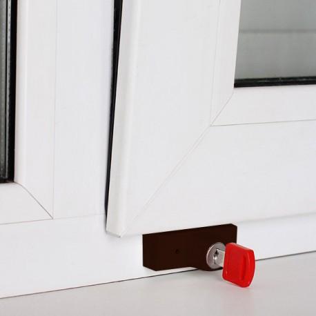 Blokovací zámek pro omezení otevření okna do okien plastových, hliník a dřevo. BSL 1 Original