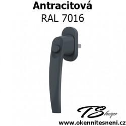 Okenni klika PLUTON s tlačítkem Antracitová RAL 7016