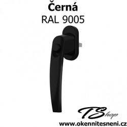 Okenni klika PLUTON s tlačítkem Černá RAL 9005