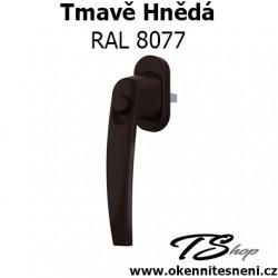 Okenni klika PLUTON s tlačítkem Tmavě Hnědá RAL 8077