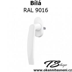 Klamka z kluczykiem Biała RAL 9016 Pluton Standard