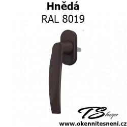 Okenni klika PLUTON Hnědá RAL 8019