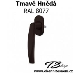 Okenni klika PLUTON Tmavě Hnědá RAL 8077